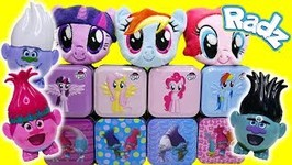 My Little Pony Plushees Trolls Surprise Tins and Candy Dispenser Radz