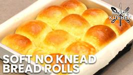 Soft No Knead Bread Rolls / Easy Bread Recipe / No Stand Mixer