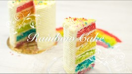 Tarta Arcoiris O Rainbow Cake / Tarta Acoiris Paso A Paso