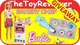GIVEAWAY Barbie Bakery Chef Doll and Playset Color Changing Unboxing Toy Review