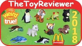 2018 National Geographic Happy Meal McDonalds COMPLETE SET 10 Unboxing Toy Review