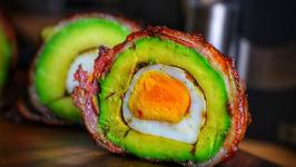 Smoked Avocado With Egg And Bacon - Keto