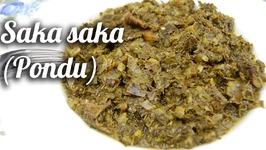 Saka Saka/ Pondu À La Morue Fumée(Congo)