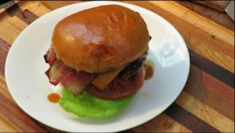 Western Bbq Bacon Smashed Cheese Burger!