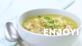 Congee With Scallion - Avocado Sauce