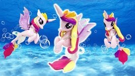 Princess Cadance Transformation from Queen Novo Seapony My Little Pony Custom