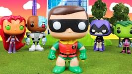 Teen Titans Go - The Best Robin - Funko Pop Parody Mystery Surprise Villains