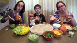 Bacon Breakfast Burritos And V8 Juice /Gay Family Mukbang - Eating Show