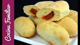 Bollos preñaos, como hacer pan relleno de chorizo. Masa para pan