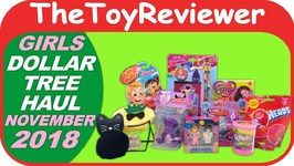 November 2018 Girls Dollar Tree Haul 1 Putty Bath Bomb Trolls Unboxing Toy Review