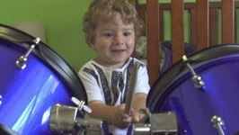 Self-Taught 2-Year-Old Drummer Has Amazing Talent