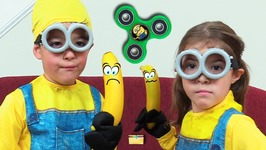 Despicable Me 3 Minions Make Fidget Spinners and Have Banana Fight and SURPRISE TOYS