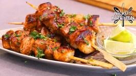 Thai Style Chicken Skewers -  6 Ingredients - 15 minute recipe