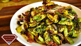 Roasted Brussel Sprouts And Bacon With Balsamic Reduction - Holiday Series