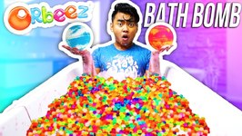 What Happens When You Put Bath Bombs In Orbeez - ORBEEZ BATH BOMB EXPERIMENT