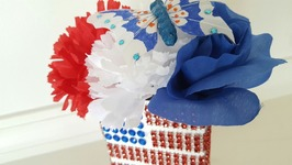 4th OF JULY DECORATIONS  DOLLAR TREE BLING  UPCYCLE CRAFTS