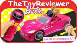Barbie Cruisin Corvette R/C Radio Control Car Convertible Remote Unboxing Toy Review