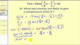 Solving Applications Problems Using Trigonometric Equations