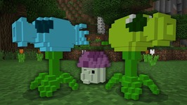 PLANTS vs. ZOMBIES .... in Minecraft?? - PE W10 XB1