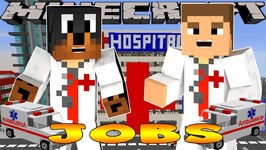 Minecraft - Little Donny Adventures - HOSPITAL: DOCTOR TRAINEES WITH DONUT THE DOG