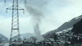 'Gustnado' Swirls Through Austrian Mountain Town