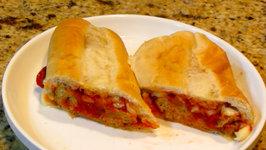 Prepping Super Bowl Meatball Sandwich