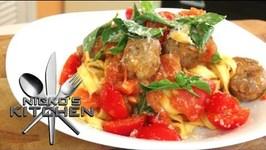 Cheats Meatballs With Tagliatelle Pasta