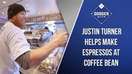 Dodgers Justin Turner Helps Make Espressos At Coffee Bean