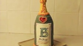 Champagne Bottle Cake - Msburpy Youtube Featurette