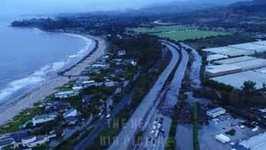 Drone Footage Shows Flood Damage That Shut Down Highway 101 South of Santa Barbara