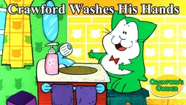 Crawford Washes His Hands - Good Habits - Cat Cartoon