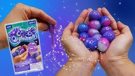 GROSS or COOL? DIY Galaxy OOZ-O's Slimy Squishies with Oozing Center!