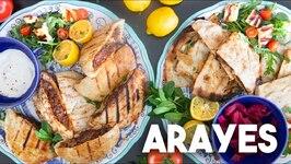 How To Make Arayes - Hawawshi - Grilled Pita Sandwich