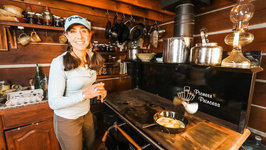 Cooking Off Grid In Winter - Breakfast At The Log Cabin