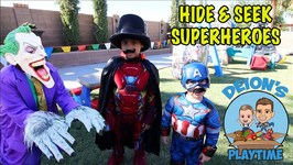 HIDE and SEEK with SUPERHEROES 3 - MAGIC HOUSE- DEION'S PLAYTIME