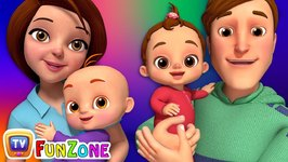 Baby, Mommy and Daddy Song - ChuChu TV Funzone Nursery Rhymes and Songs for Kids