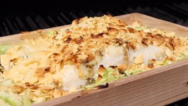 Cedar Box Codfish With Potato Chips Crust