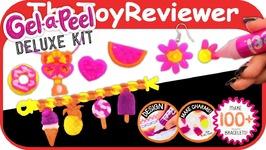 Gel-a-Peel Deluxe Kit Mold Bracelets Gel A Peel Craft Girls Unboxing Toy Review