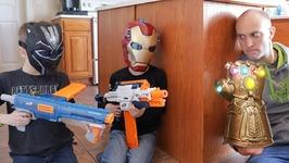 Nerf War - Avengers Infinity War (Spoilers)