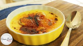 Classic And Easy Creme Brulee With Carmalized Bananas