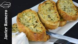 Como hacer pan de ajo con pan de pueblo