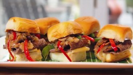 Maui Cheesesteak Sliders