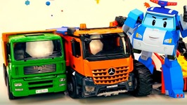 Mega Truck And Car Clown - Toy Car Videos For Kids - Cars And Trucks Cartoons For Kids