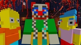 KILLER CLOWN  The Simpsons  Halloween Special  Minecraft Xbox 12
