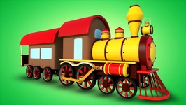 Train For Kids: Steam Train - Formation And Uses - Vehicle Cartoon Videos
