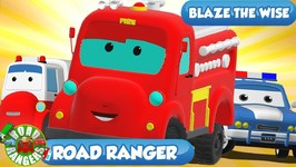 Road Ranger Blaze The Wise - Road Rangers The Kids Show - Kids Cartoon Channel -  Ep 33