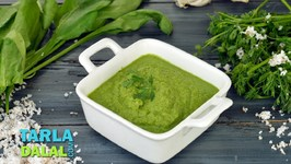 Coconut Coriander Green Chutney For Dosa