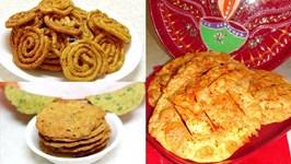 Diwali Snacks Chorafali Chakri Puri Video Recipe