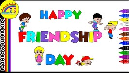 Friendship Day Coloring Page - Happy Friendship Day - Friendship Day Special