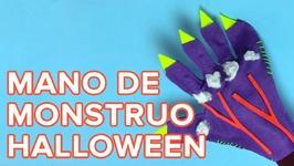 Mano de monstruo o zombie  Manualidades de Halloween para niños